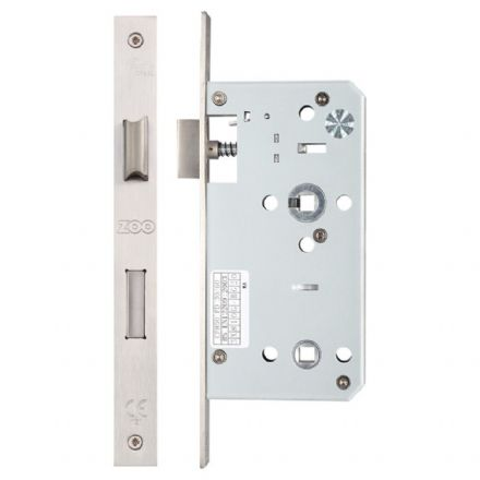 Vier ZDL7855SS Din Standard Bathroom Lock 55mm Satin Stainless Steel